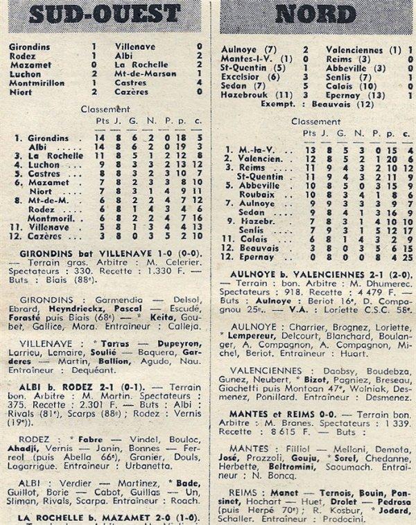 1970 D3 J09 MANTES la VILLE REIMS 0-0, le 08/11/1970