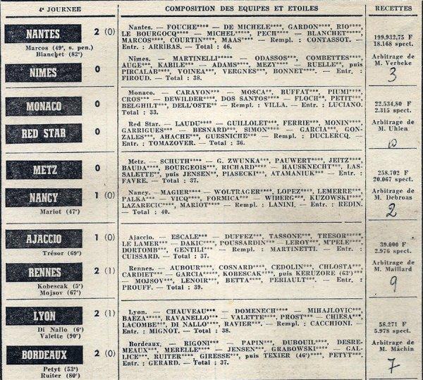 1971 D1 J04 REIMS NICE 1-2, le 28/08/1971