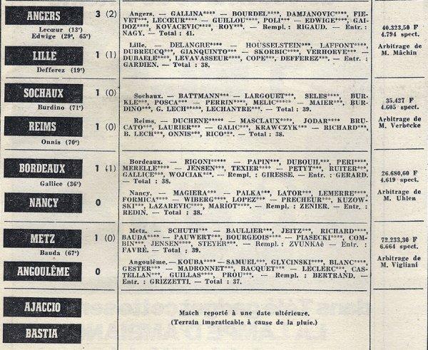 1971 D1 J10 SOCHAUX REIMS 1-1, le 13/10/1971