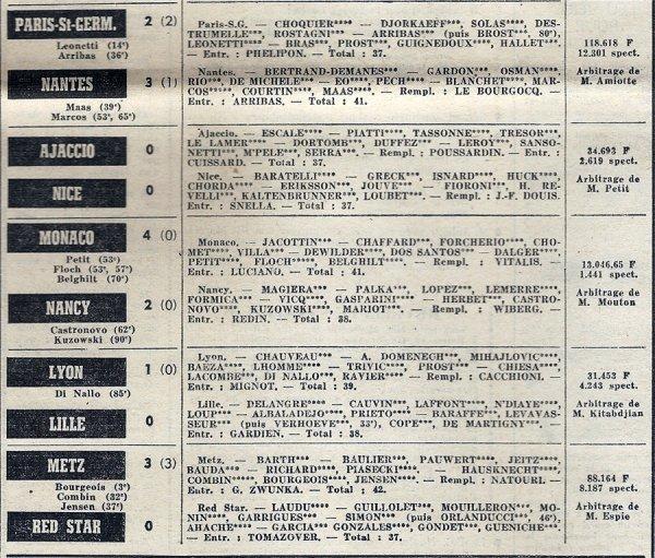 1971 D1 J23 REIMS NÎMES 1-1, le 06/02/1972