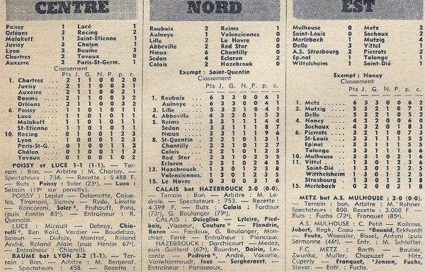 1971 D3 J03 ROUBAIX REIMS 2-1, le 05/09/1971