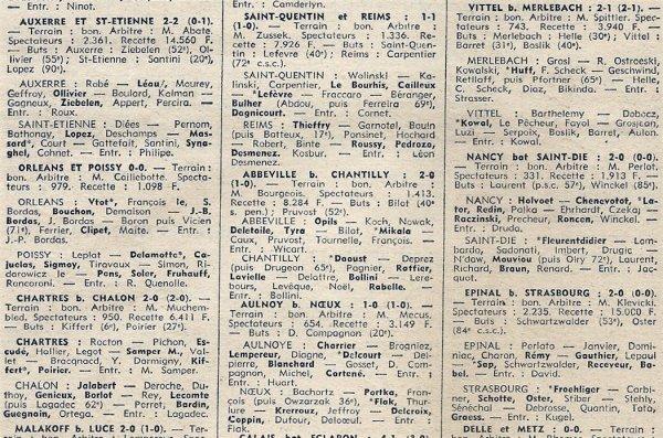 1971 D3 J05 SAINT QUENTIN REIMS 1-1, le 19/09/1971