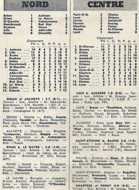 1971 D3 J09 REIMS LE HAVRE 3-0, le 17/10/1971