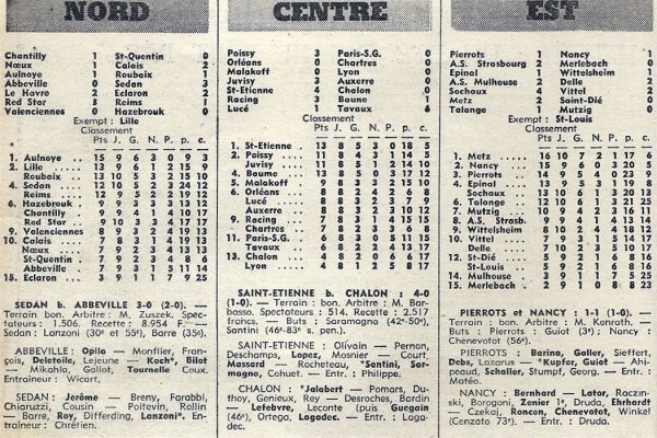 1971 D3 J10 RED STAR REIMS 3-1, le 24/10/1971