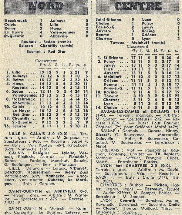 1971 D3 J13 REIMS NOEUX LES MINES 2-2, le 21/11/1971