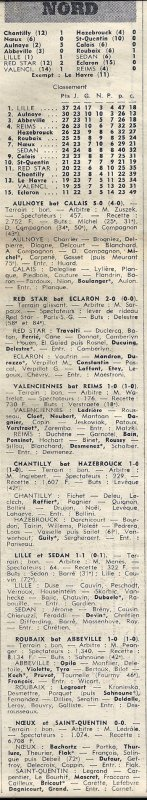 1971 D3 J25 VALENCIENNES REIMS 1-0, le 26/03/1972