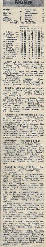 1971 D3 J27 NOEUX les MINES REIMS 0-4, le 09/04/1972