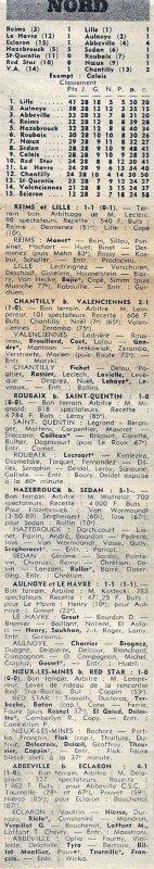 1971 D3 J30 REIMS LILLE 1-1, le 07/05/1972