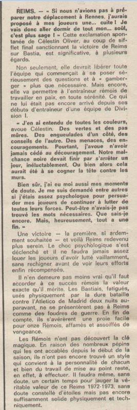 1972 D1 J06 REIMS BASTIA 2-0, le 16/09/1972