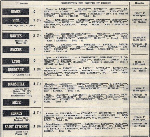 1972 D1 J11 VALENCIENNES REIMS 1-2, le 17/10/1972