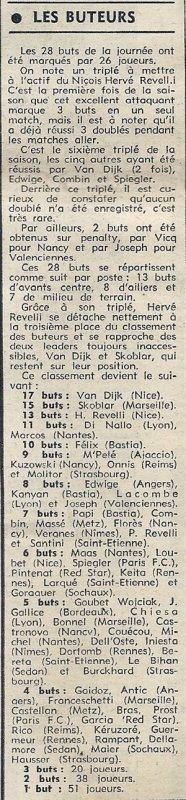 1972 D1 J21 REIMS LYON 2-1, le 14/01/1973