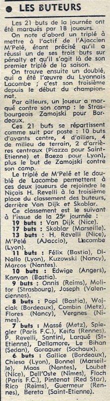 1972 D1 J25 REIMS RENNES 1-1, le 25/02/1973