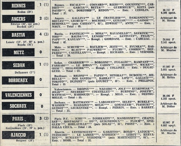 1972 D1 J28 MARSEILLE REIMS 3-1, le 28/03/1973