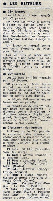 1972 D1 J29 REIMS VALENCIENNES 1-0, le 31/03/1973