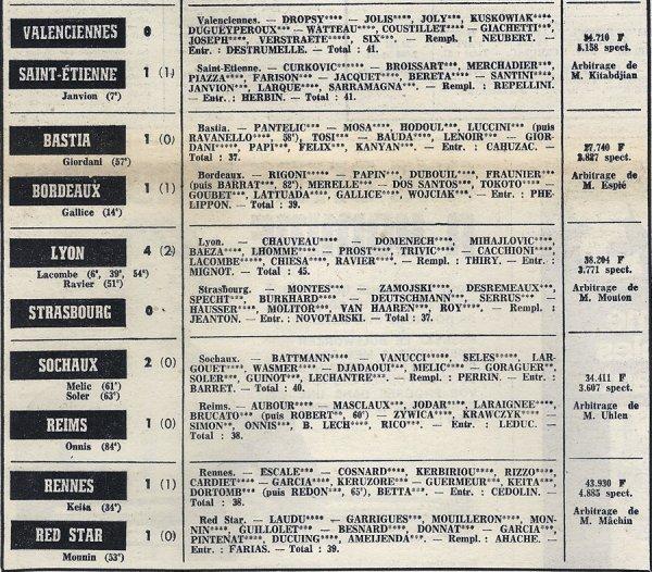 1972 D1 J30 SOCHAUX REIMS 2-1, le 07/04/1973