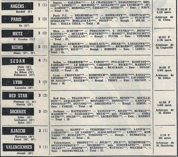 1972 D1 J33 METZ REIMS 1-2, le 28/04/1973