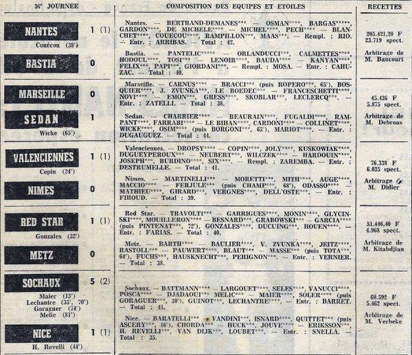 1972 D1 J38 REIMS STRASBOURG 1-0, le 02/06/1973