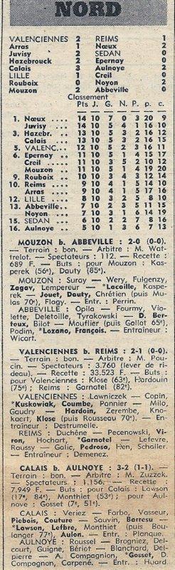 1972 D3 J10 VALENCIENNES REIMS 2-1, le 29/10/1972