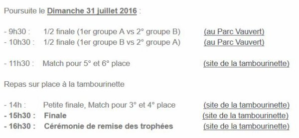 2016 AMICAL : Tournoi Paul NICOLAS , REIMS B, le 26/07/2016