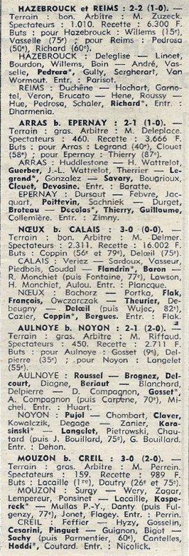 1972 D3 J12 HAZEBOUCK REIMS 2-2, le 12/11/1972