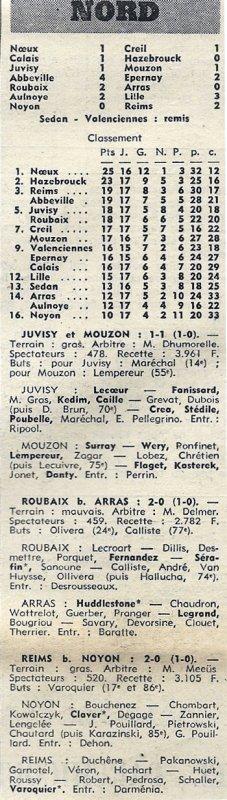 1972 D3 J17 NOYON REIMS 0-2, le 21/01/1973
