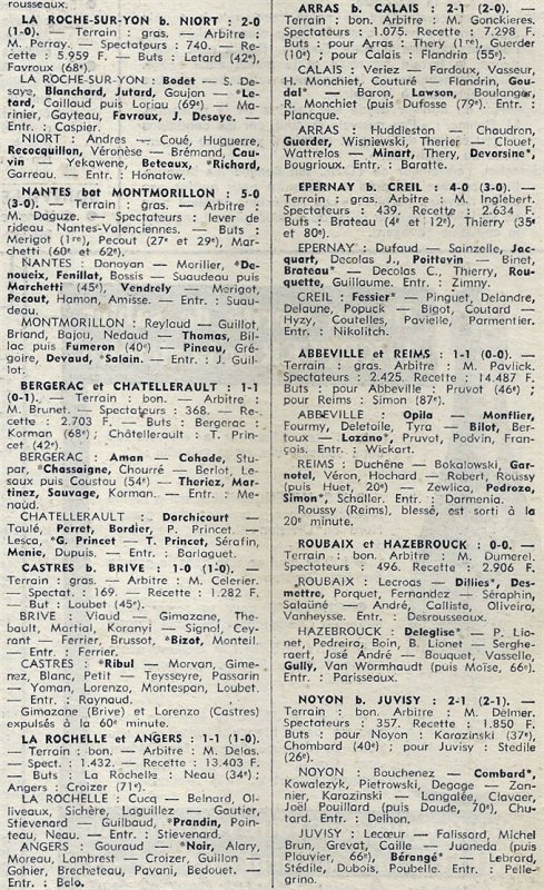 1972 D3 J19 ABBEVILLE REIMS 1-1, le 11/02/1973