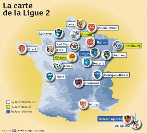 2016 Ligue 2 : Les forces en présence, le 25/07/2016