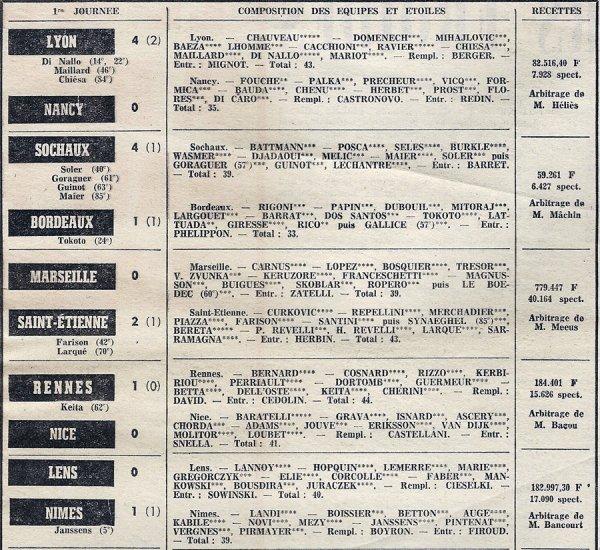 1973 D1 J01 MONACO REIMS 3-3, le 07/08/1973