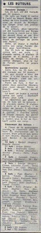 1973 J14 LYON REIMS 4-4, le 02/11/1973