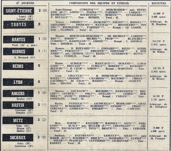 1973 D1 J32 REIMS LYON 0-0, le 12/04/1974