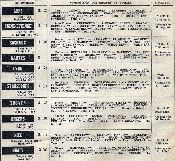 1973 D1 J35 BASTIA REIMS 1-1, le 30/04/1974