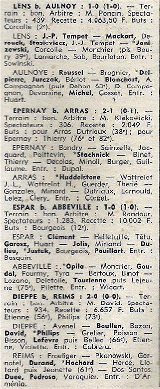 1973 D3 J02 DIEPPE REIMS 2-0, le 02/09/1973