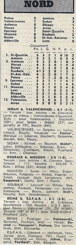 1973 D3 J03 REIMS SAINT-AMAND RAISMES 5-1, le 09/09/1973