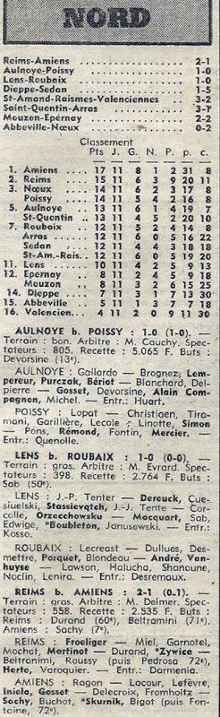 1973 D3 J11 REIMS AMIENS 2-1, le 04/11/1973