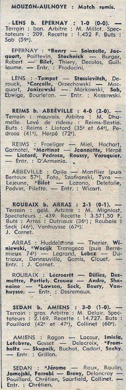 1973 D3 J14 REIMS ABBEVILLE 4-0, le 02/12/1973