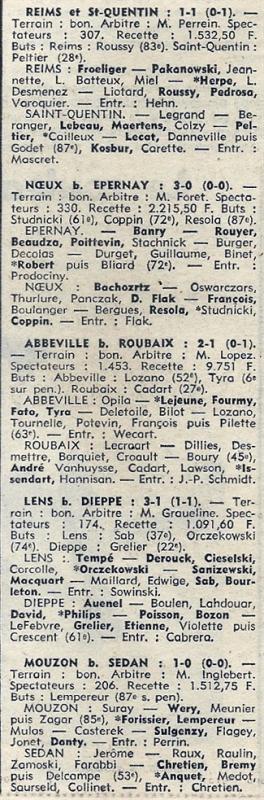 1973 D3 J18 REIMS SAINT QUENTIN 1-1, le 20/01/1974