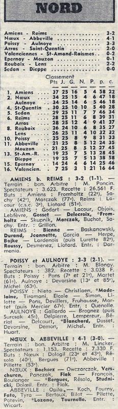 1973 D3 J25 AMIENS REIMS 3-2, le 24/03/1974
