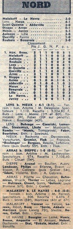 1974 D3 J01 QUEVILLY REIMS 1-0, le 01/09/1974