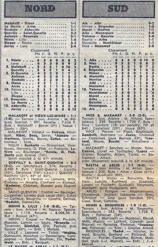 1974 D3 J03 DIEPPE REIMS 5-3, le 15/09/1974