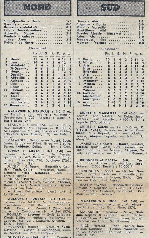1974 D3 J06 REIMS LE HAVRE 1-2, le 06/10/1974