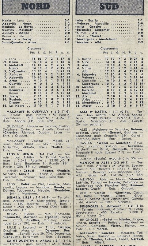 1974 D3 J10 REIMS LILLE 2-1, le 03/11/1974