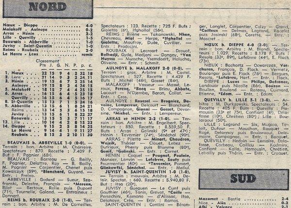 1974 D3 J15 REIMS ROUBAIX 2-0, le 22/12/1974