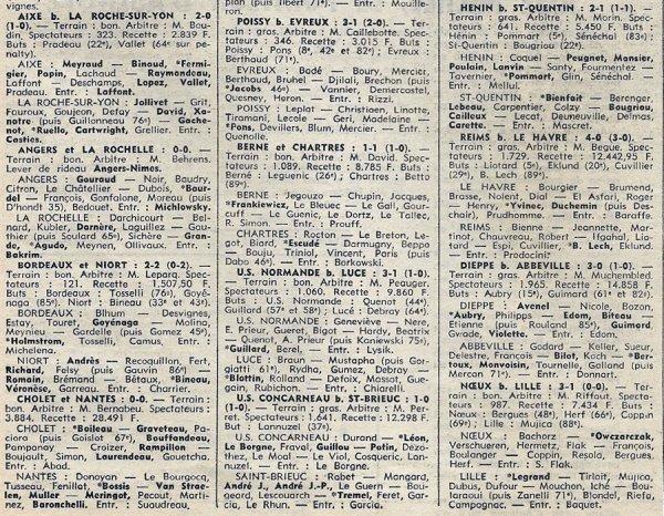 1974 D3 J20 LE HAVRE REIMS 0-4, le 16/02/1975