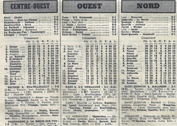 1974 D3 J21 REIMS HENIN-BEAUMONT 1-1, le 23/02/1975
