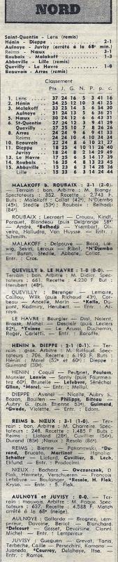 1974 D3 J25 REIMS NOEUX les MINES 3-1, le 30/03/1975