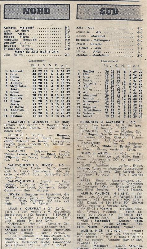 1974 D3 J29 ROUBAIX REIMS 1-4, le 27/04/1975