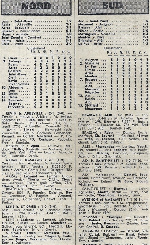 1975 D3 J03 REIMS HENIN-BEAUMONT 3-1, le 21/09/1975