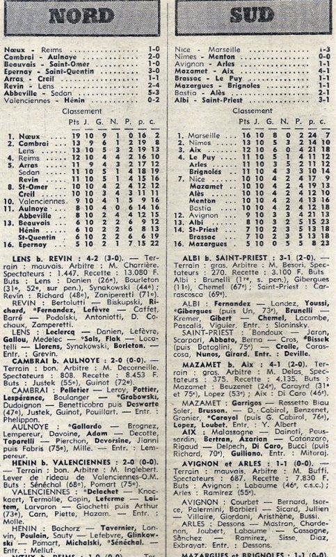 1975 D3 J10 NOEUX les MINES REIMS 1-0, le 09/11/1975