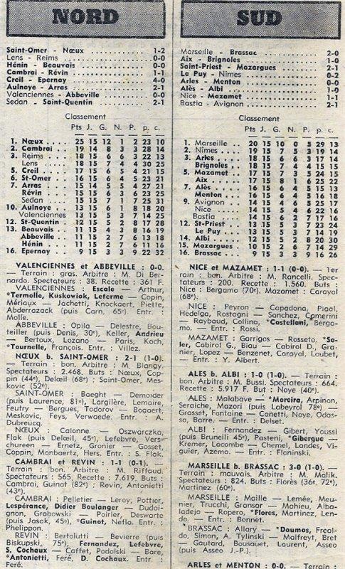 1975 D3 J15 LENS REIMS 0-0, le 18/01/1976
