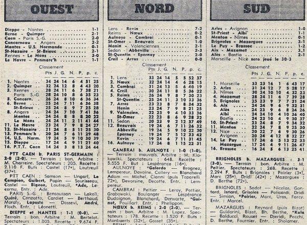 1975 D3 J24 REIMS NOEUX les MINES 0-2, le 28/03/1976